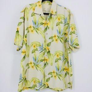 Tommy Bahama 100% Silk Hawaiian Shirt Men's Size L